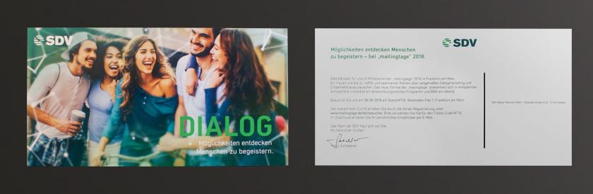 """SDV – Einladung zu """"mailingtage 2018"""""""